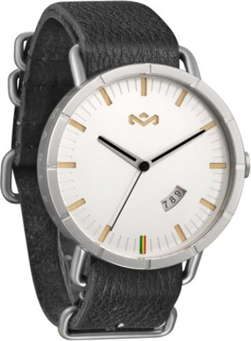 House of Marley Hitch Leather Designer Watch - Iron / One Size by House of Marley
