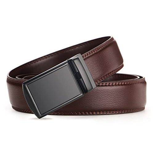 QISHIYUHUA Hombres Cinturón de Cuero Correa Cinturones de Piel Diseñado  para caballero Barato 621aa14c69e1
