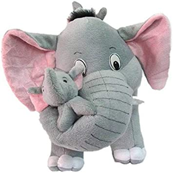 Prime Teddy Grey Mother Elephant with Two Baby Stuffed Soft Plush Toy (40 CM/15)