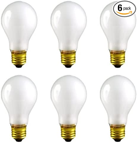 Frosted Box of 6 CEC Industries #25A-15 12V Bulbs 12 V 25 W E26 Base