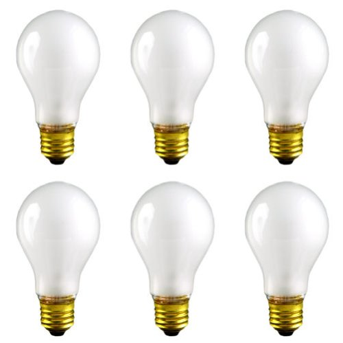 - CEC Industries RSB50 (Frosted) Rough Service Bulbs, 130 V, 50 W, E26 Base, A-19 shape (Box of 6)