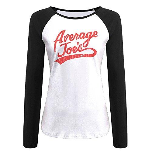 AIJFW Average Joe's Women's Crewneck Baseball Tshirt S