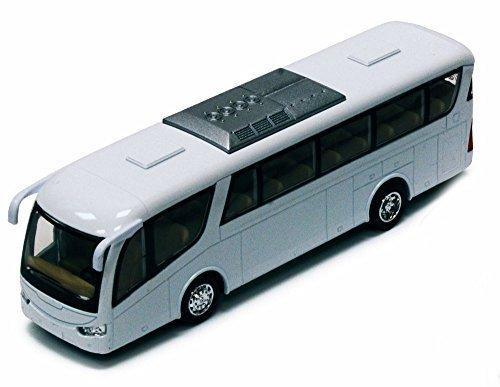 (Coach Bus, White - Kinsmart 7101DW - 7