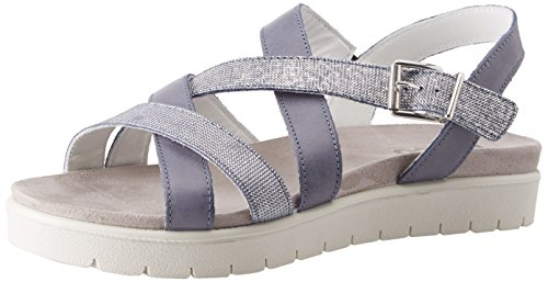 IGI Dsn Open 11 Women's Jeans Sandals Blue 11712 Toe B4xBwqr1