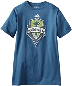 MLS Seattle Sounders FC Primary Logo T-Shirt, Small, Cap blue