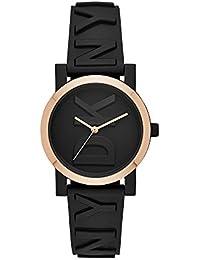 Women Soho Quartz Silicone Black with Black Dial Watch NY2727