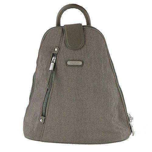 (Baggallini Metro Backpack with RFID Phone Wristlet, sterling)