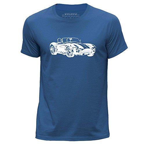 - Stuff4® Men's X Large (XL) Royal Blue Round Neck T-Shirt/Stencil Car Art/AC Cobra