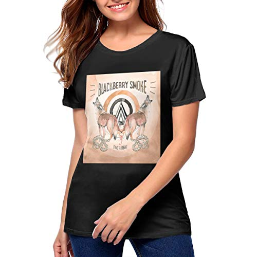 Maria D Miller BlackBerry Smoke Find A Light Woman's Soft Sexy Youth Girls T Shirt S ()