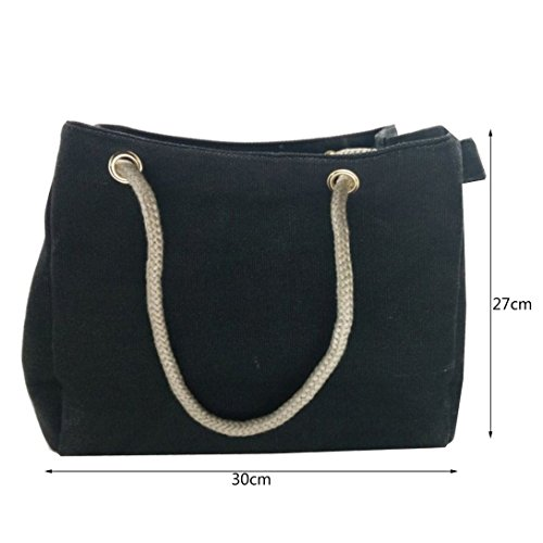 Design Cloth Strap Made Swiftswan Rope Casual shoulder Bag Bag Hemp Woman Canvas Single IIOUq