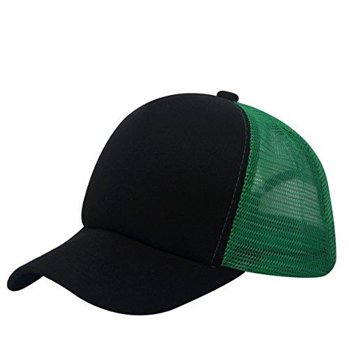 oriental spring - Gorra de béisbol - para hombre verde/negro