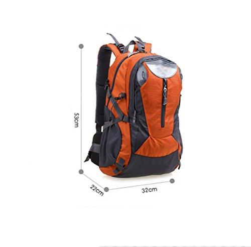 LAIDAYE Hombros Impermeables Al Aire Libre Del Alpinismo Viajes Deportivos Mochilas De Trekking Turismo Negocios De Ocio De Usos Múltiples Mochila De Viaje Orange