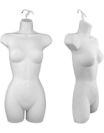 663f36db3e Only Hangers Women s Torso Female Plastic Hanging Mannequin Body Form White  - Pack of (1