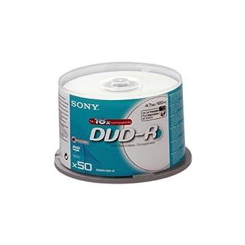 Sony 50DMR47BSP-IP - Bobina con 50 DVD-R, 4.7 GB compatibles ...