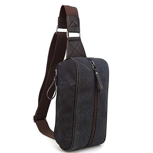 Fabric Fzhly Zipper Men's Anti Sling Word Simple Canvas Bag theft Pocket FrCrWIq