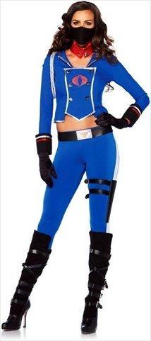 Cobra Girl Womens GI Joe Cobra Commander Costume (Female Gi Joe Costume)