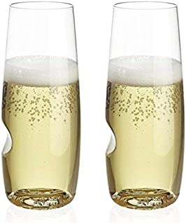 product image for The govino Dishwasher Safe Champagne Flutes Flexible Shatterproof Recyclable, 8-ounce, Set of 4 (Champagne Set of 2)