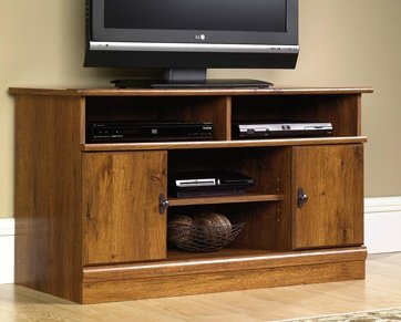 Best TV Stand Entertainment - for TVs up to 43'', Wood, with Cabinets, Abbey Oak by Best TV Stand