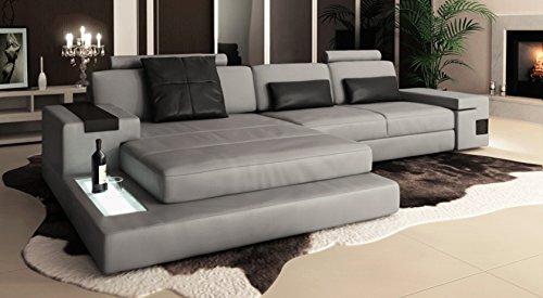 Ledersofa modern  Ledersofa Wohnlandschaft Leder modern Ecksofa Sofa Couch ...