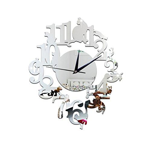 Winomo Calcomanías de reloj 3D para proyectos personales de manualidades, acrílico, espejo, reloj de pared, reloj con...