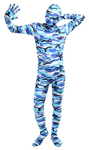 - 41ehBd ZmXL - Ensnovo Adult Lycra Spandex Camouflage Full Body Zentai Suit Costume