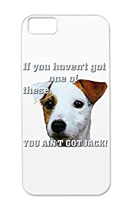Dogs Animals Nature Dogs Canines Pets Pedigree Jack Russell Terriers Silver TPU You Aint Got Case Cover For Iphone 5c