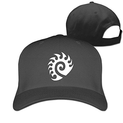 Watch Logo Round (TLK Geek Starcraft Zerg Logo Adult Fishing Caps Hat Black)