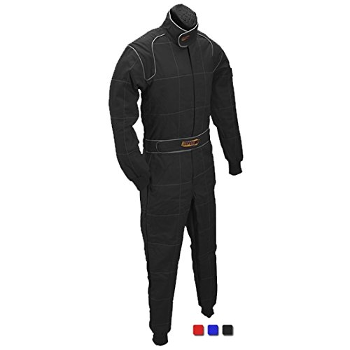 - Red 2 Layer Racing Suit-One Piece-SFI-5 Rated, Large