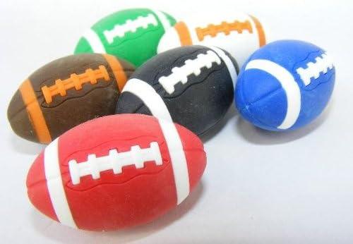 Iwako por los Temas 6 colores americanos Balones de fútbol Rugby ...