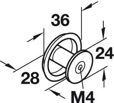 Gedotec Messing Schubladen-Knopf Antik Schrankknopf Vintage M/öbelknopf Bronze schwarz H10750 1 St/ück Kommoden-Knopf rund Design Knauf Landhaus-Stil mit Schrauben K/üchen-Knopf gro/ß /Ø 36 mm