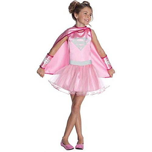[SUPERMAN- SUPERGIRL COSTUME - M- (8-10)] (Supergirl Costumes Pink)