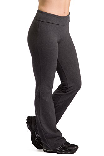 Athletic Yoga Pants (Heather Gray, M-Petite)