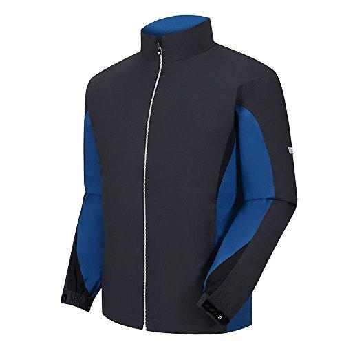 FootJoy Hydrolite RAIN Golf Jacket Charcoal/Cadet Blue/Black (Footjoy Performance Rain Shirt)