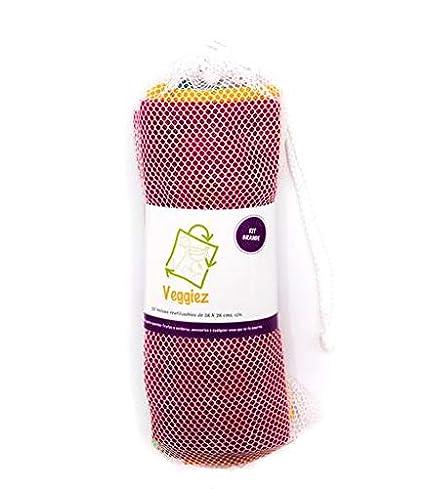 d9a43e70d 10 Bolsas Ecológicas para Frutas,Verduras,Supermercado,Bolsas Grandes,  Bolsas Reutilizables para