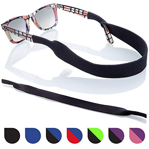 - Sunglasses Strap - 2 Pack | Anti-Slip and Fast Drying Sport Safety Retainer Straps (Black)