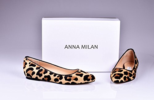 Leopardo Anna Potro De Animal Leopardo cebra Piel Bailarinas negro En Milan Print 8qx8B4w76