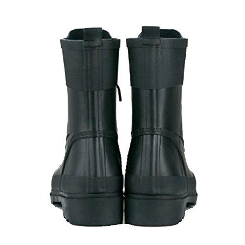Women's rain boots NAN Fashion Ladies Martin Rain Boots Winter Water Shoes Anti-skid Wear (Color : Black, Size : EU36/UK4/CN36) Black