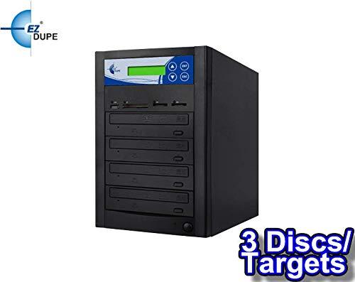 EZ DUPE Multi Media Mirror CD/DVD/Blu-Ray/SD/CF/MS/MMC/USB Duplicator (3 Discs/Targets) (CD/DVD)