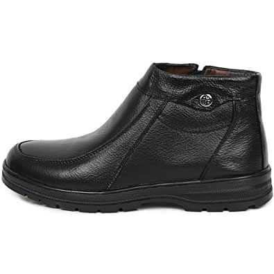 Amazon.com | JustOneStyle New Mens Casual Leather Black