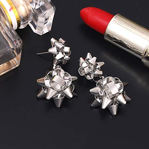VK Accessories 3 Pairs Christmas Earring Different Styles Bow Shape Santa Earrings