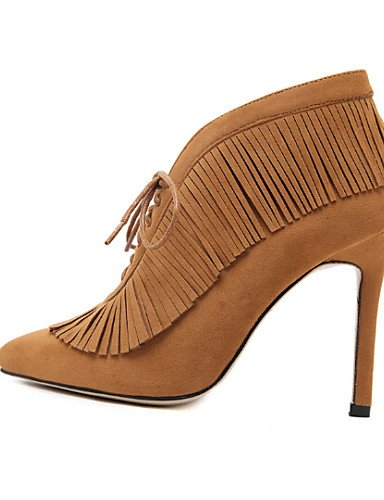 Mujer Eu37 Uk4 Eu39 7 Cn37 Botas De Marrón 5 Brown Zapatos Cn40 Semicuero Comfort 5 Brown 5 us6 Xzz Exterior us8 Uk6 Negro Tacón Stiletto 5 5 gpExwq