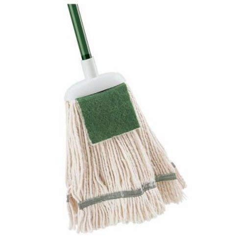 Libman Cotton 12 oz. Wet Mop with Scrub Pad Refills, 6 Mop Heads (LIB-00130)