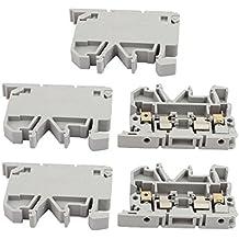 uxcell 5Pcs ASK1EN DIN Rail Mount Fuse Holder Terminal Block 500V 4mm2 Cable Gray