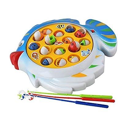 Iso Trade Angelspiel Elektrisch 3 Angeln 15 Fische Spielzeug ab 3 Jahren Batteriebetrieben #6717