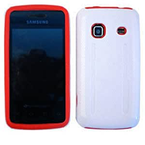 1 PIECE ACCESSORY CASE COVER FOR SAMSUNG GALAXY PREVAIL M820 RED WHITE