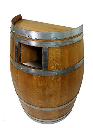 Wine Barrel Waste Receptacle, Lacquer finished, 26