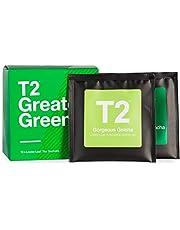 T2 Tea Sips Greatest Greens Assorted Tea Sampler Gift Box, Pack of 10 Loose Leaf Green Tea Sachets