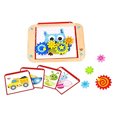 Fat Brain Toys Go Go Gears! Puzzles for Ages 3 to 4: Toys & Games