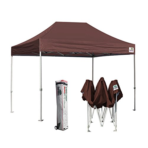 Eurmax Basic 8x12 Ez Pop up Canopy Tent Entry Commercial Level W/roller Bag (12' Roller Bracket)