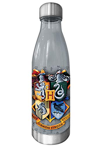 Silver Buffalo HP11638J Harry Potter Plastic Curved Bottle, Multicolor